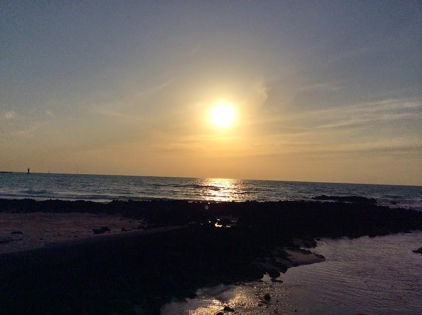 곽지과물해변 석양
