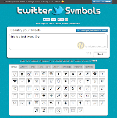 Add Symbols To Your Twitter Tweets With Twitter Symbols