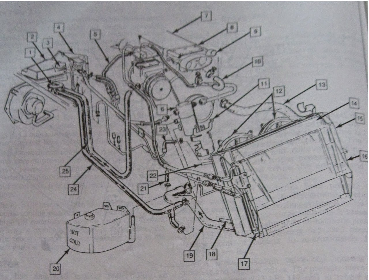 1990 Corvette Vacuum Hose And Cooling System Diagrams