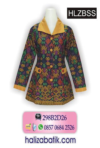 batik wanita modern, blus batik terbaru, batik model terbaru