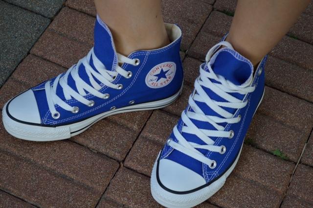 all star converse blu elettrico