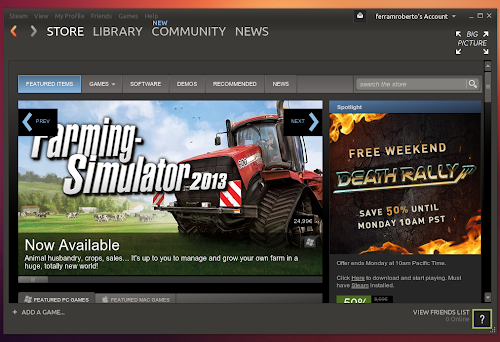 Skin Ubuntu in Steam per Linux