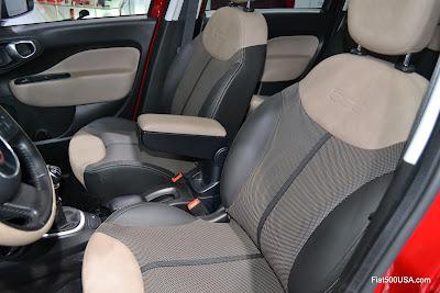 Fiat 500L Lounge front seats