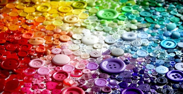 *彩虹鈕扣藝術畫:Karen Hurley 幼年的激發! 4