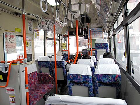 十勝バス「ふるさと銀河線代替バス」2036 帯広駅バスターミナルにて 車内