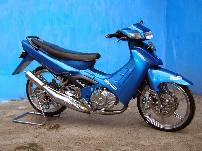Modifikasi Suzuki Skywave Trail modifikasi motor suzuki skywave 7664 jogjaBsuzukiBsatriaBbiruBmodif