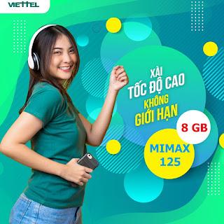 Nhận 8GB Data Miễn phí Gói Mimax125 Viettel
