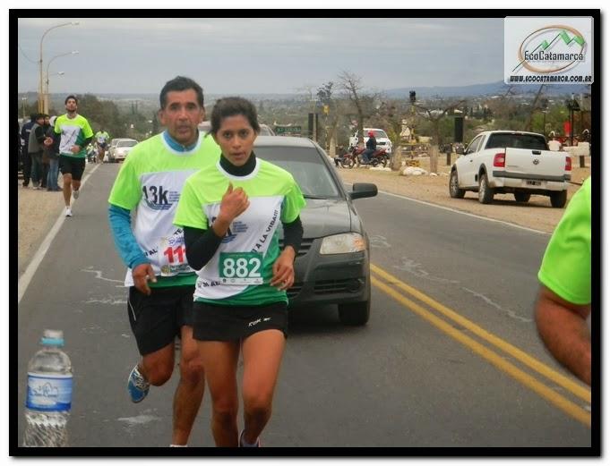 Yamila Alvarez en los 5k de los empleados de comercio - catamarca
