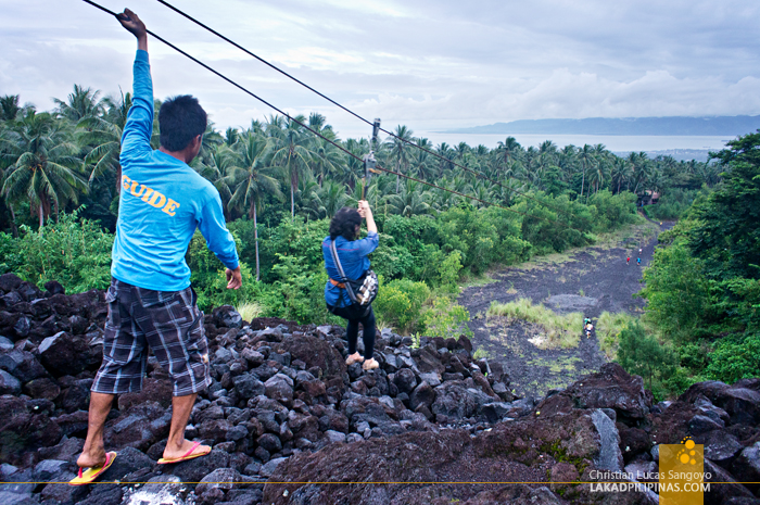 Zipline at Mayon's Lava Trail