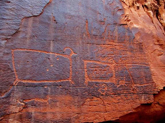 Large sheep petroglyphs