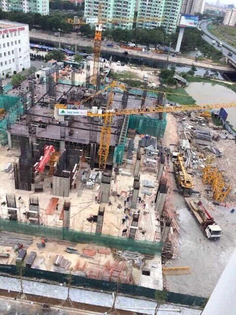 Tổng thể công trường xây dựng dự án Tứ Hiệp Plaza