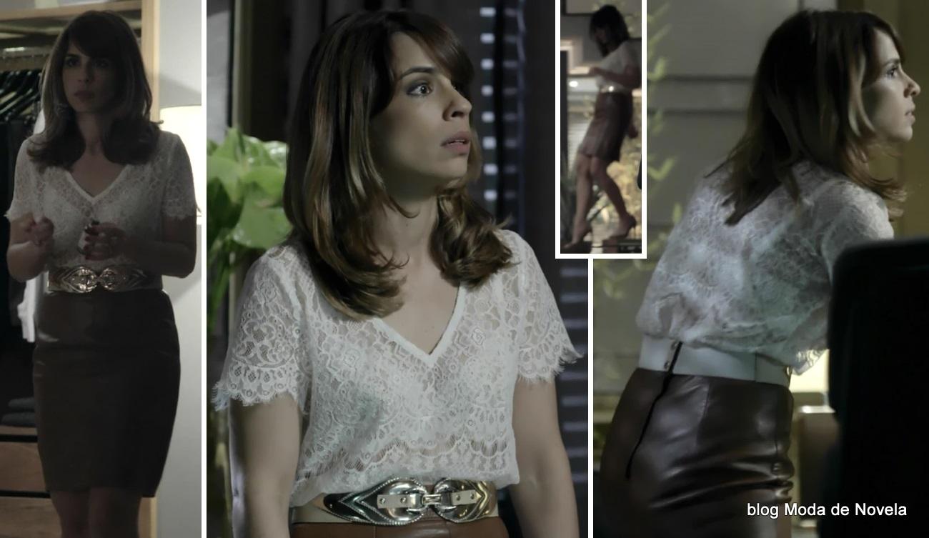 moda da novela Império - look da Danielle dia 29 de julho