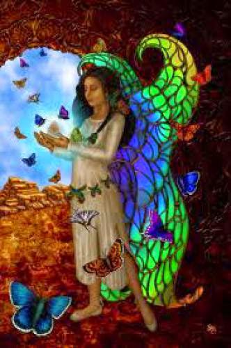 Goddess Guidance Butterfly Maiden Goddess Of Springtime Repost