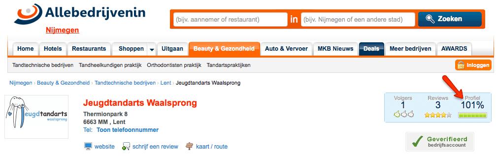 Foutje bij allebedrijveninnijmegen.nl