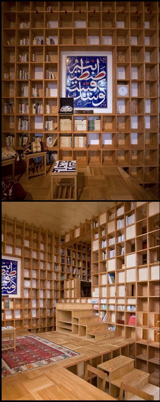 rak 01 Rumah Berkonsepkan Rak Buku di Jepun