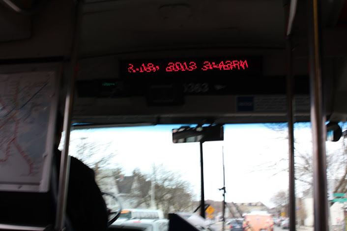 3:42 pm on the bus