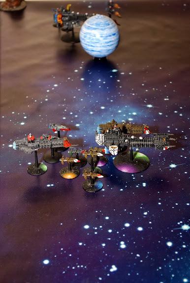 [Navy/SM vs Chaos] Deux flottes du chaos de 1000 points contre deux flottes impériales de 1000 points... _IGP8294