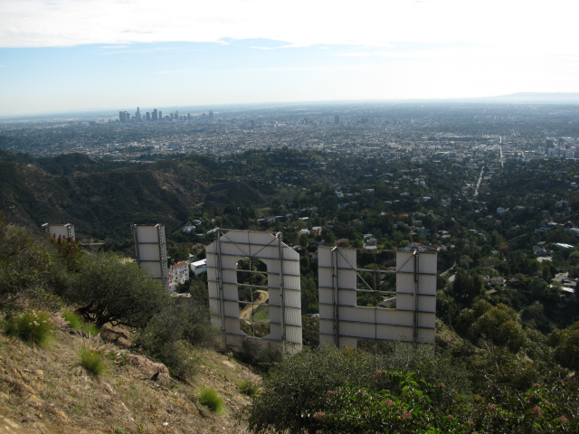 looking out over the HOL and Hollywood
