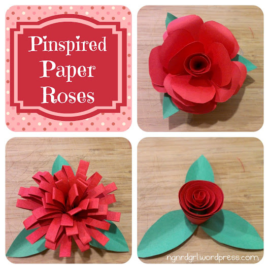 Pinspired Paper Roses