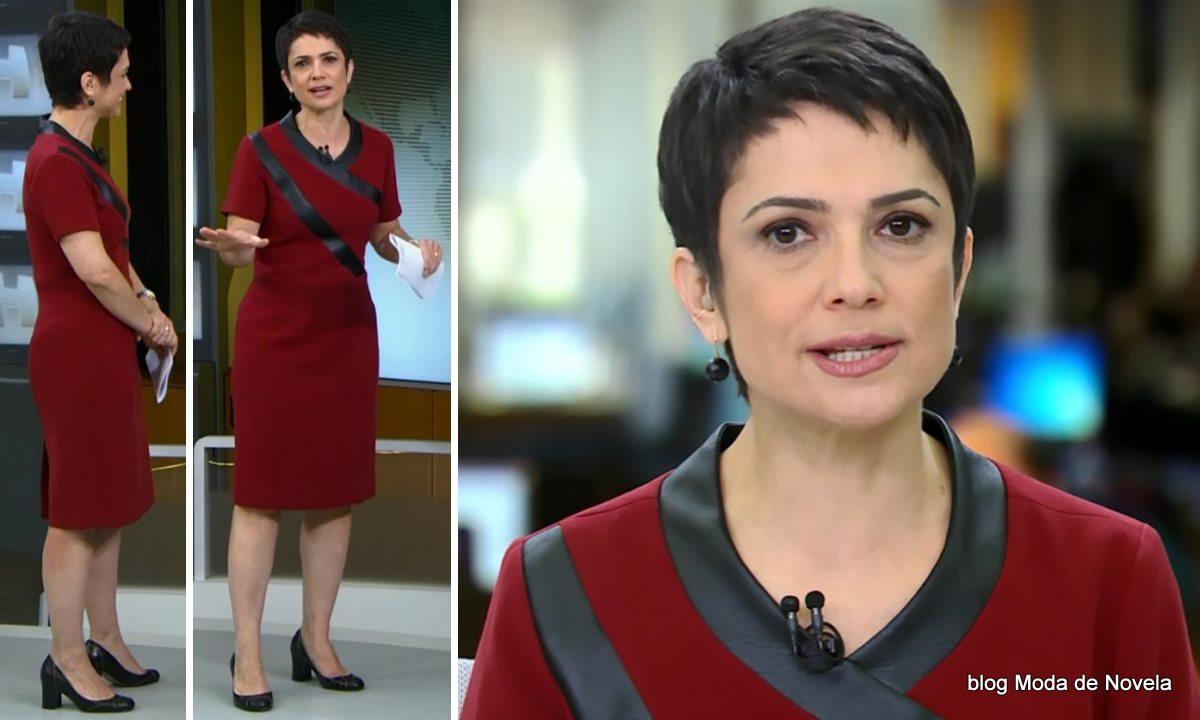 moda do programa Jornal Hoje - look da Sandra Annenberg dia 18 de junho