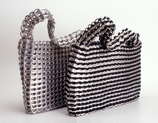 Como hacer carteras o bolsos reciclados con chapas abre lata