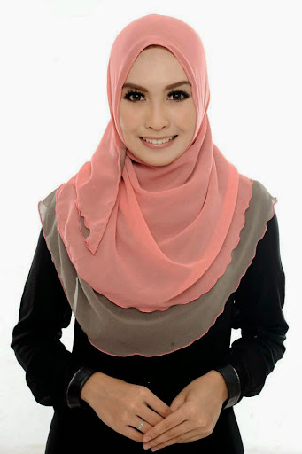 ADC III 010%2520Peach%2520%252B%2520Greyish%2520Brown SHAWL ADREENA TUDUNG SHAWL HALFMOON DOUBLE LAYER YANG LABUH