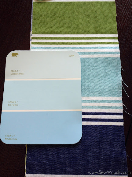 Inspiration Fabric w/ BEHR Paint Chip