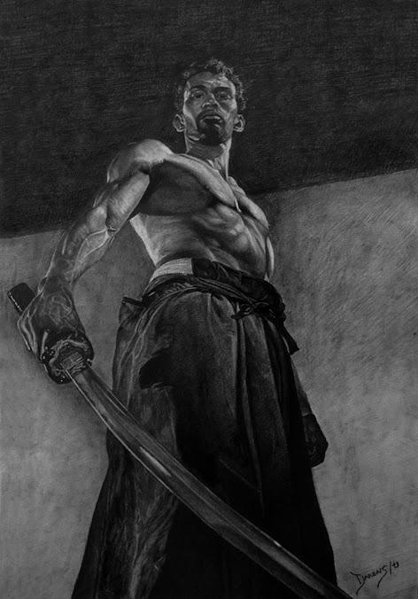 Dibujo de Francisco Darens Maestro espadachin,
