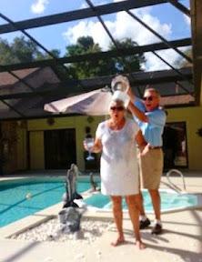 "Janet Dyer doing the ""Ice Bucket Challenge"""