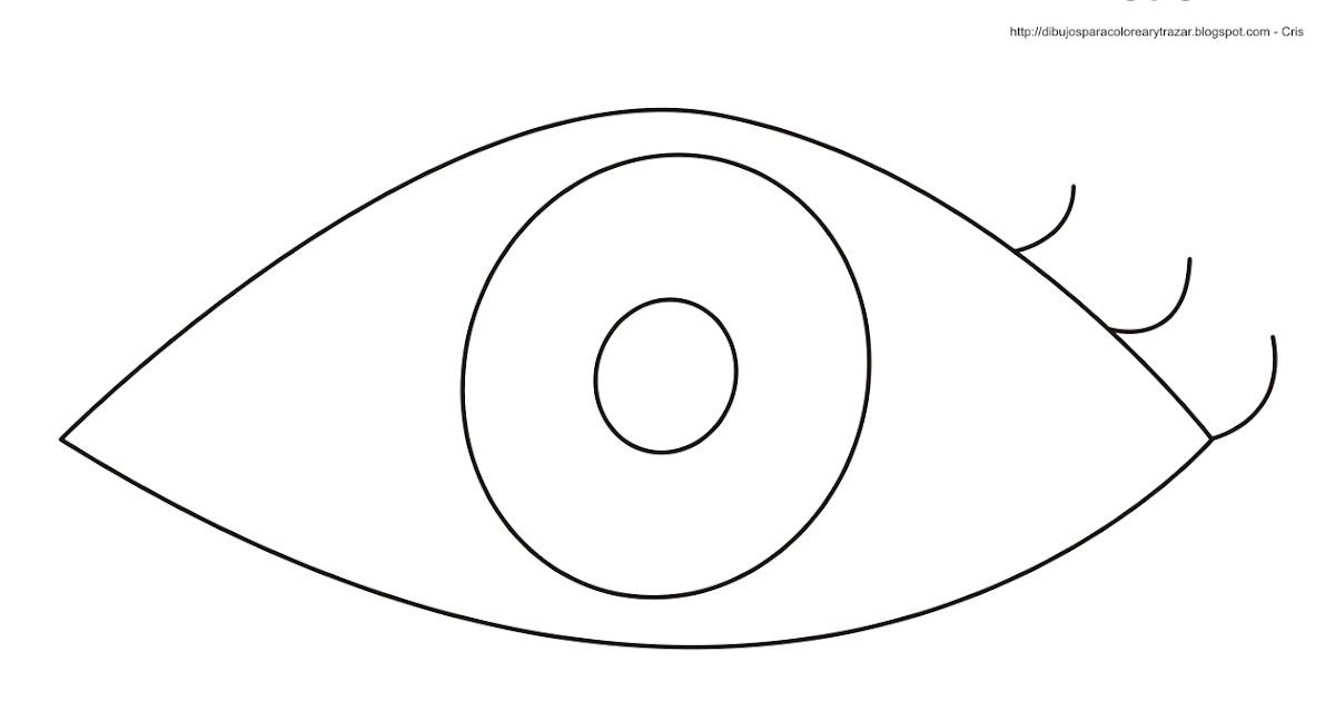 Dibujos De Ojos Infantiles Para Colorear: Dibujos Para Colorear Y Trazar