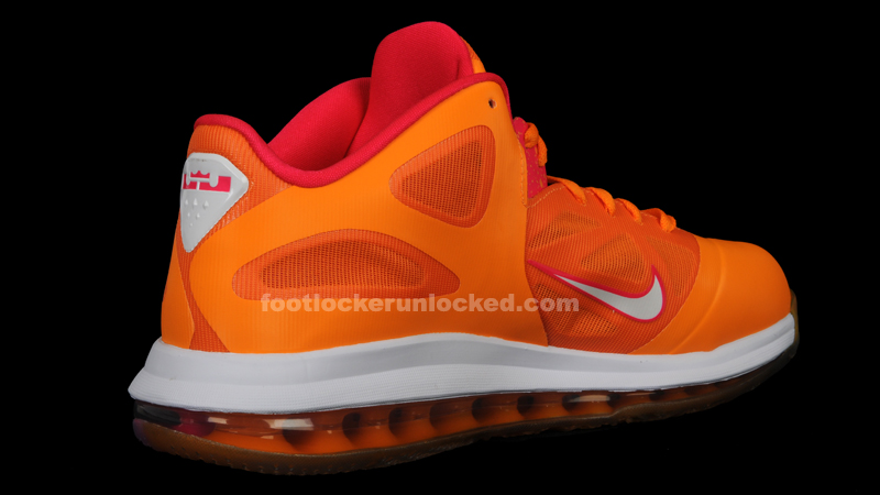 Official Nike Zoom Lebron 9 Low 510811 800 Vivid Orange Cherry