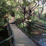 Crossing the Leura Cascades creek (93781)