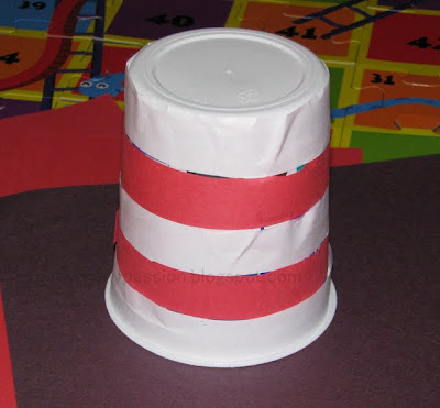 "Make a ""Cat in the Hat"" Hat using Yogurt Cup"