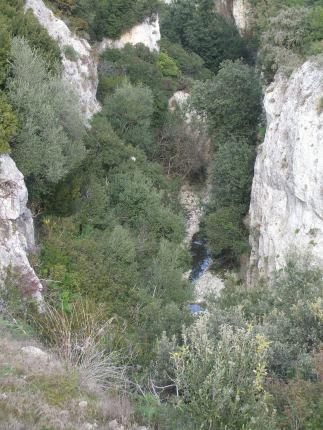 Schlucht des Bradano bei Matera, Basilikata, Italien