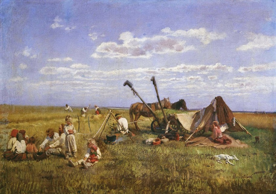 Nikolay Makovsky - Rest At Harvest
