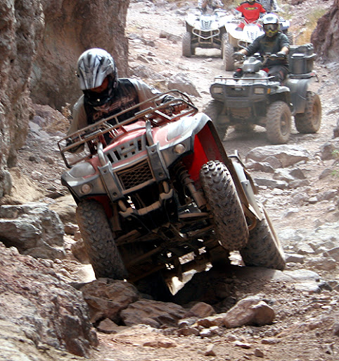 250cc Jianshi Yamaha Quad Bike JS250 ATV Over Rocks Rugged Terrain