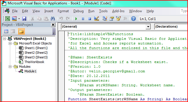 Visual Basic for Applications Automation Library Simple-VBA-functions