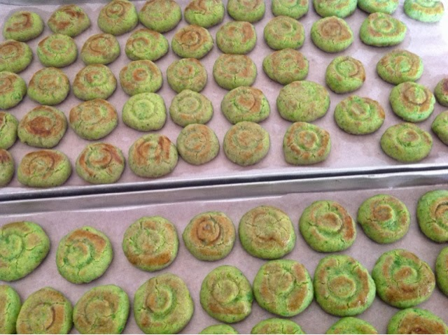 Green Peas Cookies for Chinese New Year