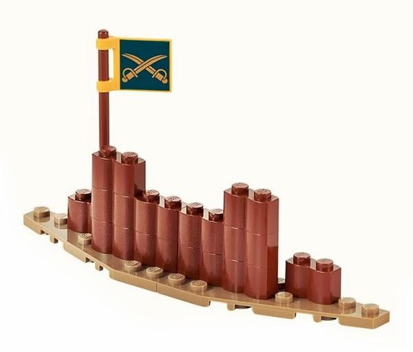 Đồ chơi LEGO Hàng rào trại lính