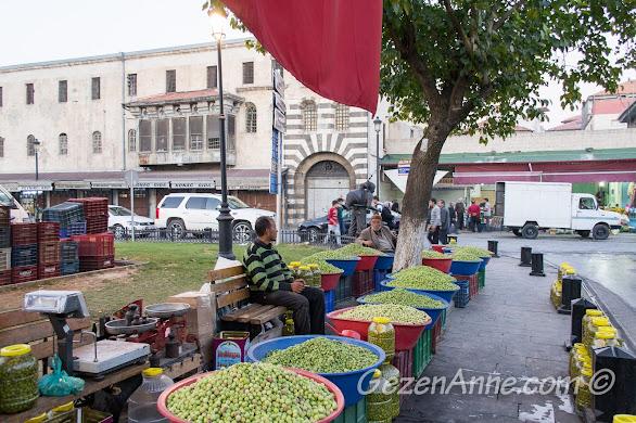 Gaziantep'teki zeytin satıcıları