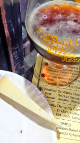 Portland Beer and Cheese Festival 2014, a pairing of beer and cheese, here Double Mountain Brewery Carrie Ladd beer with Isle of Mull – Cheddar – cow – Scotland