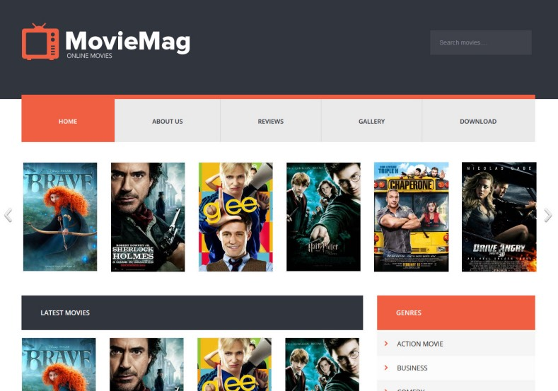 Movie Mag Blogger Template Free Download