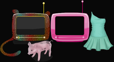 Stardoll Free StardollTV TVs, Piggy and Dress