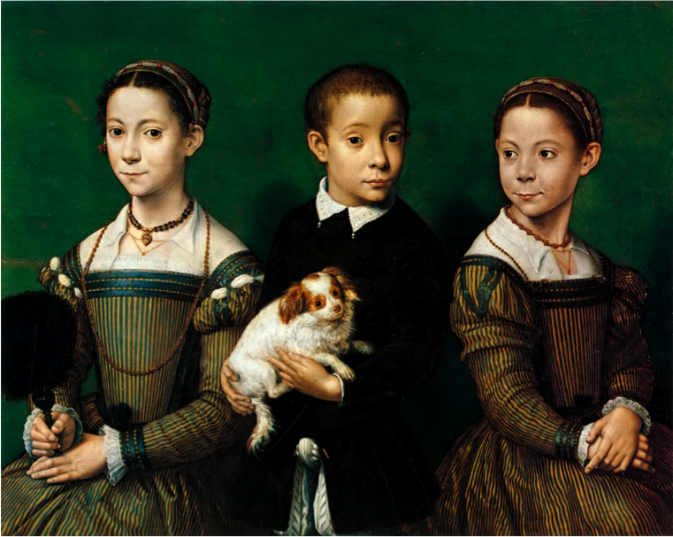 Sofonisba Anguissola - Three children with dog