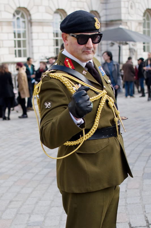 Military Man at London Fashion Week, Somerset House