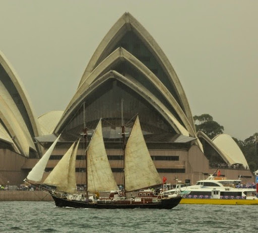 Sails, and symbolic sails. Celebrating Australia Day in Sydney Harbour