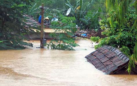 Thơ miền Trung lũ lụt