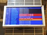 The Evil Sign of Doom - our flight, EZY2461, with the blue status still. It hadn't disappeared yet.