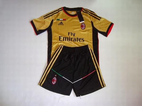 Jual Jersey Anak AC Milan Gold