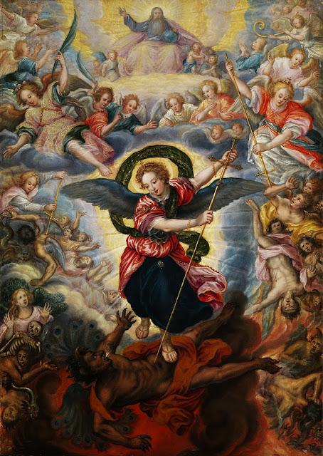 Hans Rottenhammer - Das jüngste Gericht mit dem heiligen Michael im Kampf mit dem Satan